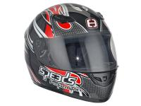 Casque Speeds intégral Performance II Tribal Graphic rouge