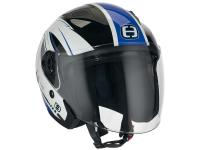 Casque Speeds Jet City II Graphique blanc / bleu brillant
