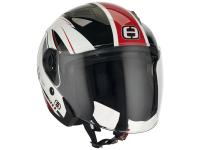 Casque Speeds Jet City II Graphique blanc / rouge brillant