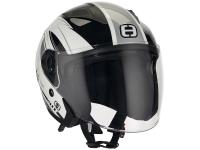 Casque Speeds Jet City II Graphique blanc / argent brillant